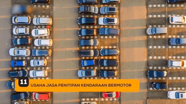 11. Usaha Jasa Penitipan Kendaraan Bermotor