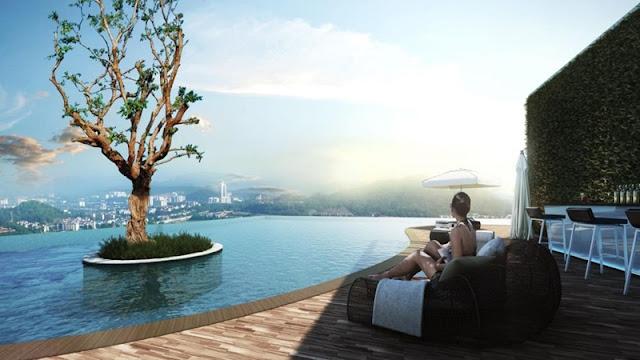 Hồ bơi căn hộ RichMond City Bình Thạnh