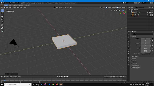 Blender 2.8 beginner chair modelling