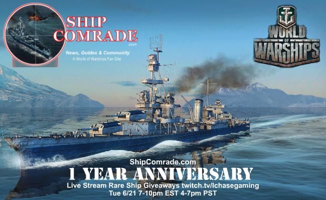 World of Warships Brasil: 1º Aniversário de nosso parceiro