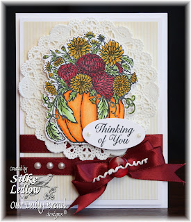 Stamps - Our Daily Bread Designs Fall Flowers Pumpkin, Ornate Borders Sentiments, ODBD Custom Pumpkin with Flowers Die