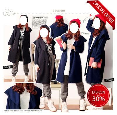Blazer kerja wanita panjang long cardigan trench coat jaket parka
