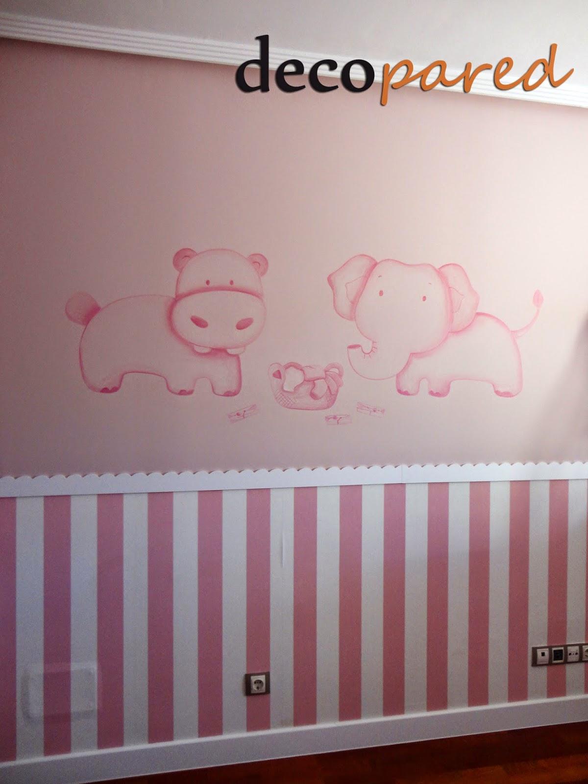 murales infantiles pintados a mano sobre la pared lisa o gotelet estamos en madrid pero nos desplazamos por toda espaa with dibujos pared bebe