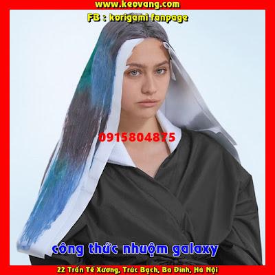 CÔNG THỨC NHUỘM TÓC MÀU XANH KHÓI MÂY TRỜI BLUE GALAXY TUYỆT ĐẸP