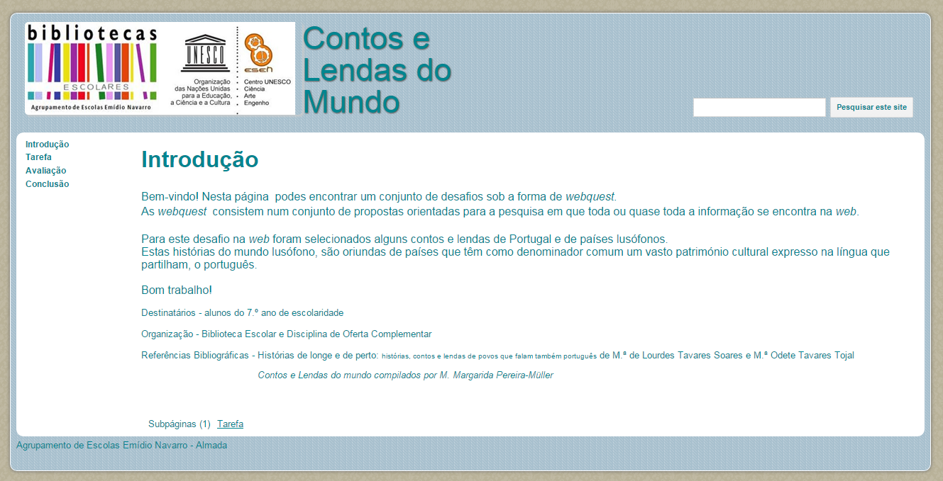 Webquest Contos e Lendas do Mundo