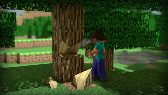 personaje de minecraft madera