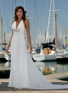 beach wedding dress halter