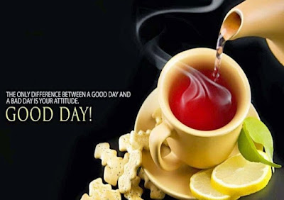 Good Morning Whatsapp Images - hot tea in cup with good morning wishes for whatsapp