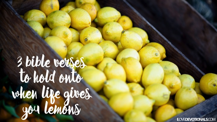 3 bible verses to hold onto when life gives you lemons | I Love
