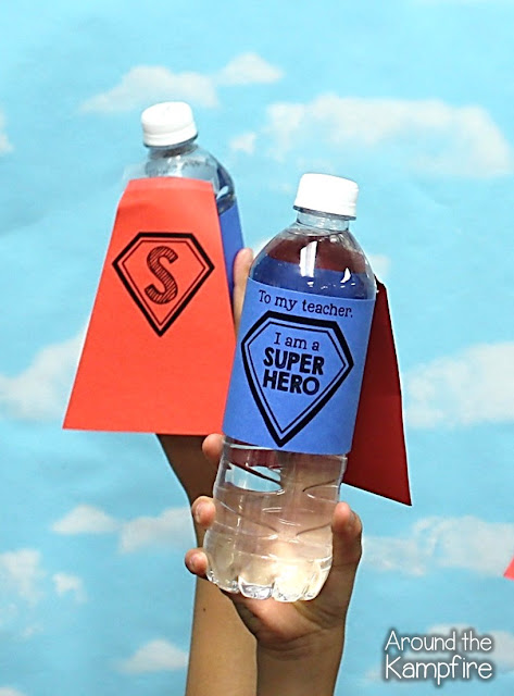 Super Hero water bottle trophies