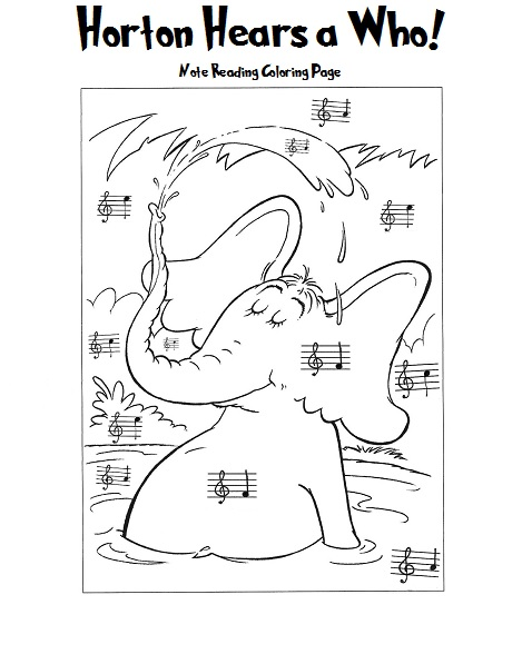 piano notes coloring pages - photo#15