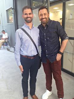 Ο Βαγγέλης Αυγουλάς και ο Θέμης Γεωργαντάς
