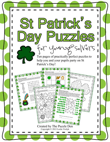 The Puzzle Den: St Patrick's Day Puzzles for Young Solvers