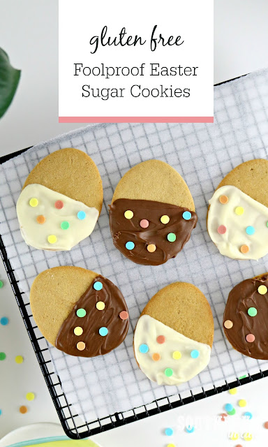 Foolproof Easter Sugar Cookies Recipe Gluten Free Recipe - Easy Cream Cheese Cut Out Cookies, Gluten Free Sugar Cookies, Chocolate Dipped Cookies, Easter Dessert Idea