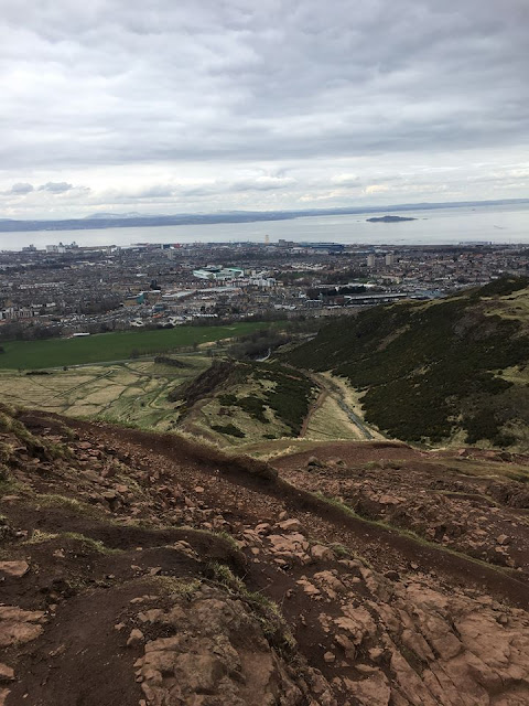 view from Arthurs Seat Edinburgh Scotland