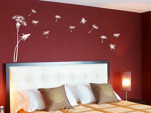 Wall Paint Ideas - Latest Home Ideas - Red Feature Color Wall