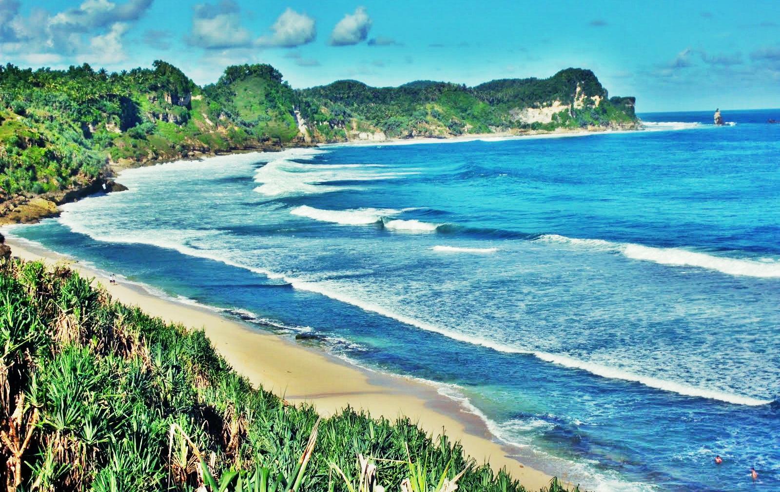 Keindahan Obyek Wisata Pantai Nampu Wonogiri - Jawa Tengah ...