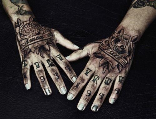 Espectaculares Tatuajes En Las Manos Belagoria La Web De Los