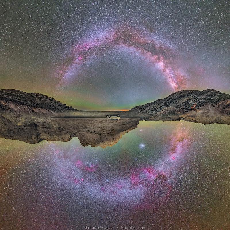 Trọn vẹn dải Ngân Hà trong cùng một hình ảnh. Hình ảnh: Moophz Himself (Maroun Habib).