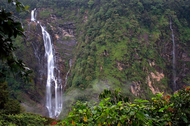Gowrishankara falls, which also falls from an height similar to Jog falls about 960ft. (Sep-2016)