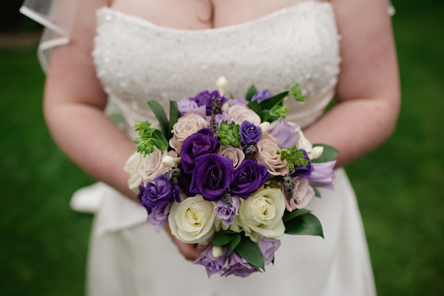 purple lilac wedding bouquet