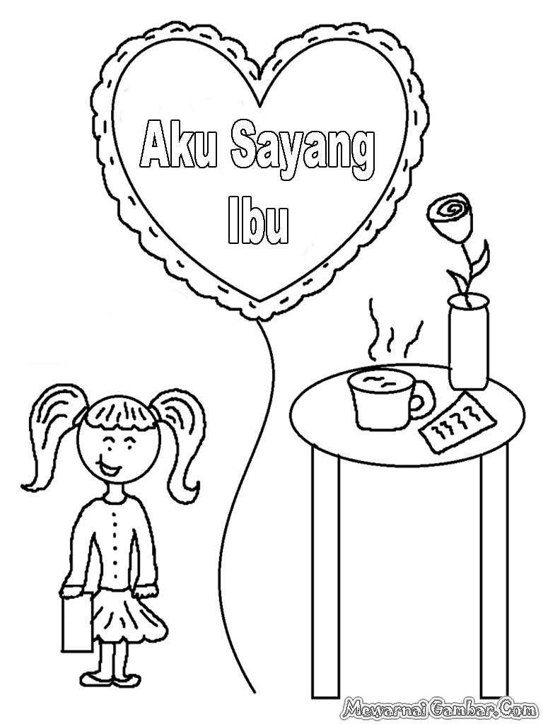 Mewarnai Gambar Hari Ibu Indonesia Mewarnai Gambar