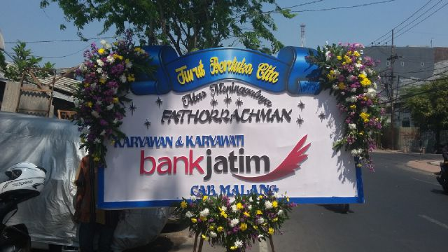 Papan Bunga Duka Cita Bank Jatim Oriza Florist