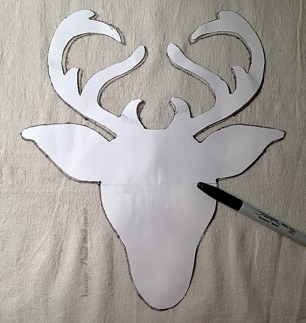 Vintage, Paint and more... making a pattern for a DIY Farmhouse Christmas Wreath