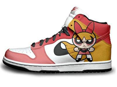 Nike Dunks Custom Design Sneakers : Shoes The Powerpuff ...  Nike Dunks Cust...