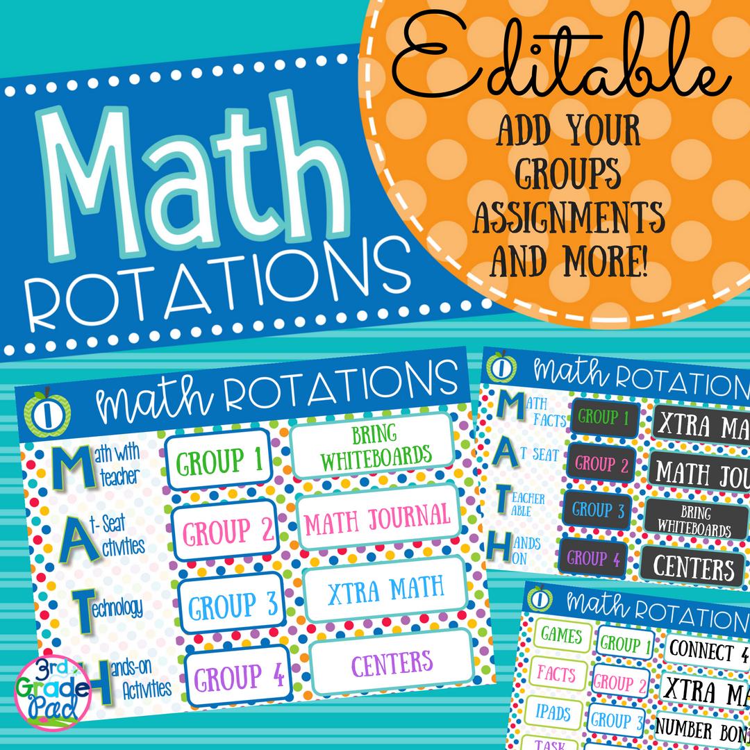 Managing Guided Math Rotations
