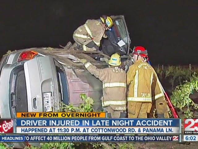 woman hurt suv crash collision bakersfield kern county panama lane cottonwood road