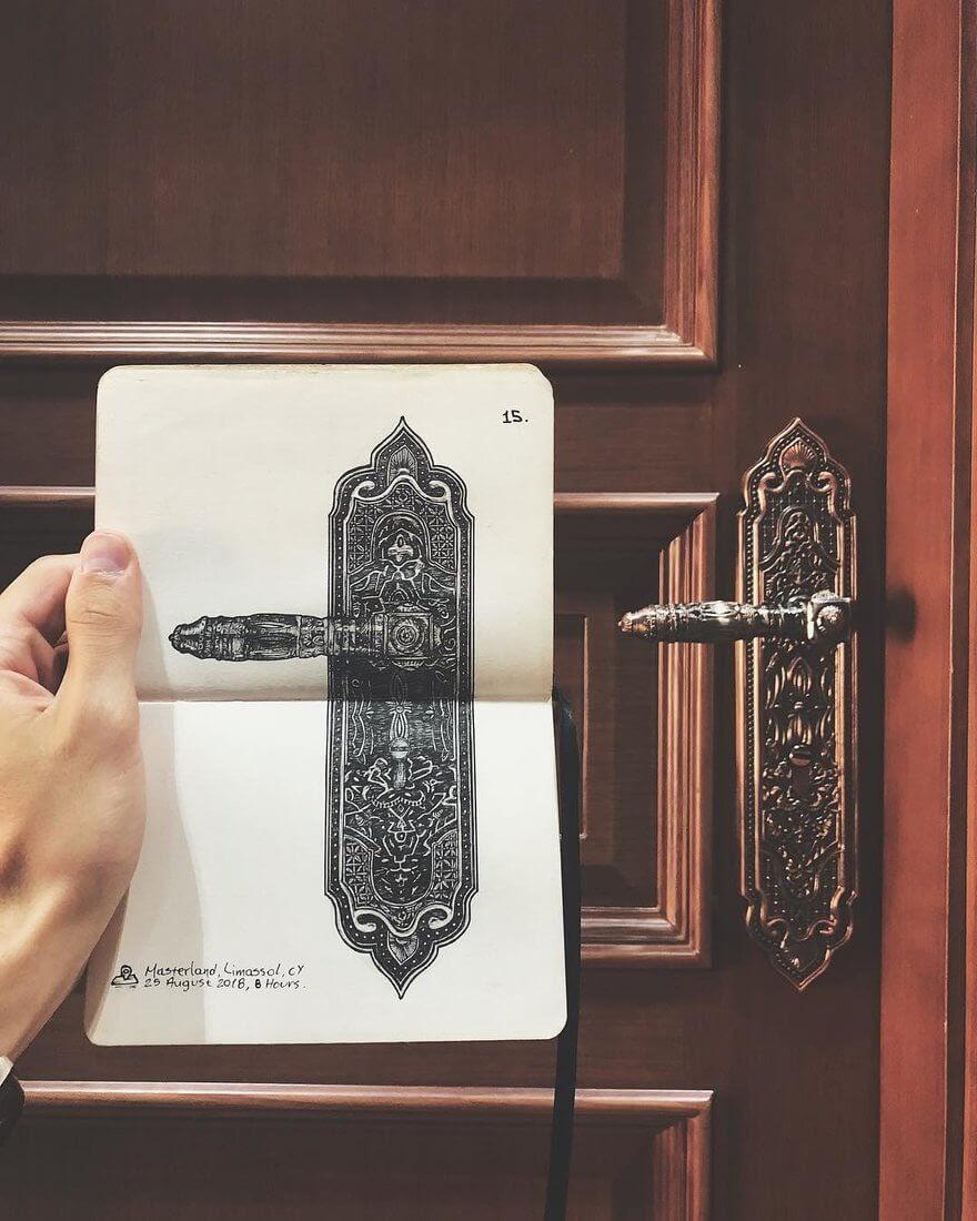 06-Door-handle-Alex-Pantela-Ink-Urban-Architectural-Drawings-www-designstack-co