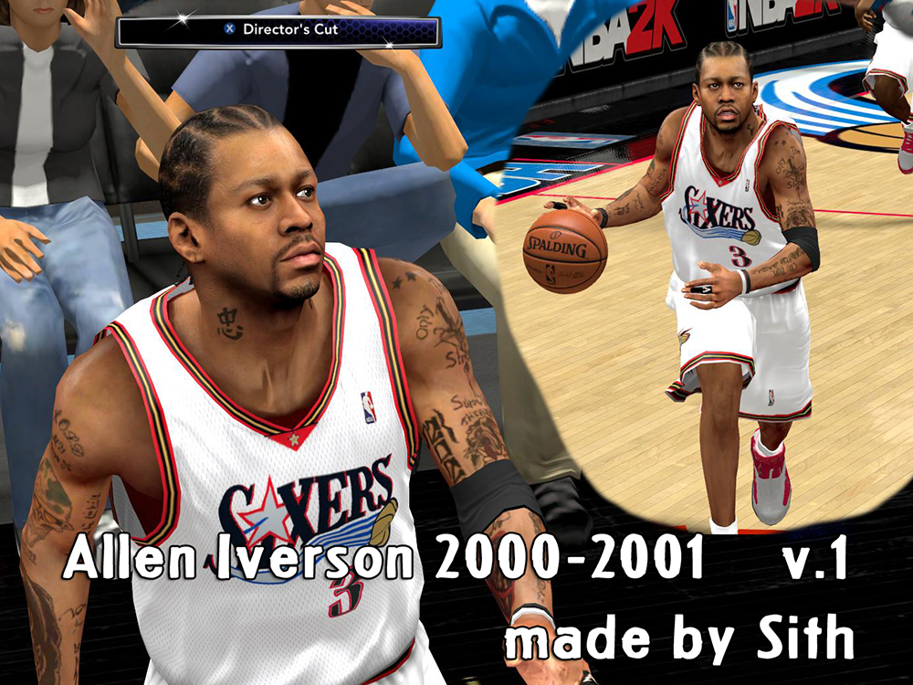 NBA 2K14 Allen Iverson Face & Hair Mod