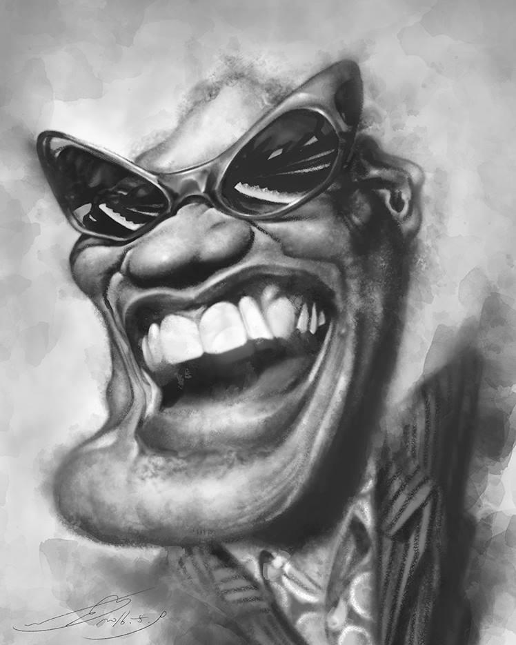 Ray Charles por Rivorio Mok