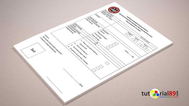 Cara mudah membuat formulir pendaftaran di ms word