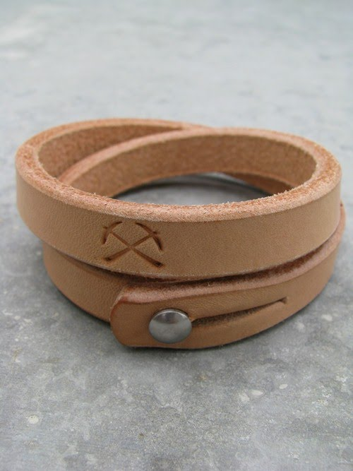 3six Double Wrap Leather Bracelet In Natural