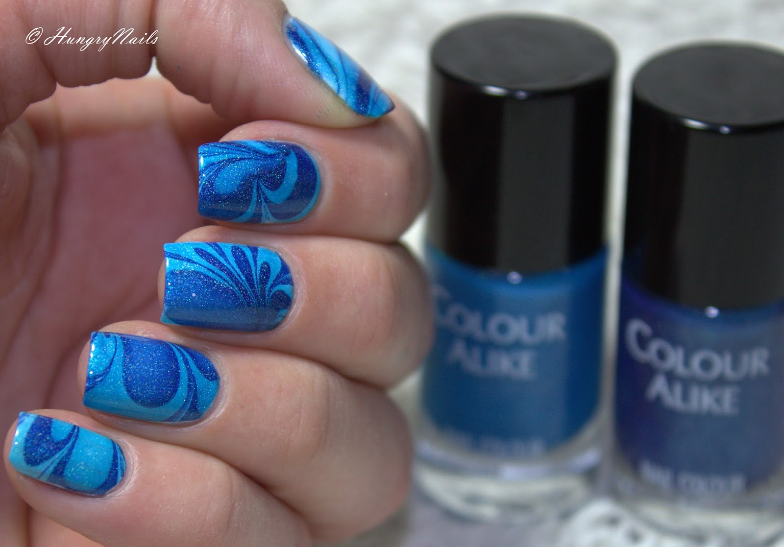 Blue Friday Spezial | Water Marble - HungryNails Blog | Die bunte ...