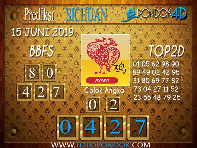 Prediksi Togel SICHUAN PONDOK4D 15 JUNI 2019