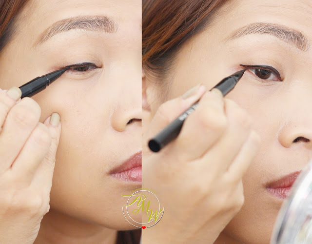 a photo on how to use Lifeford Hi- Precise Eye Pen