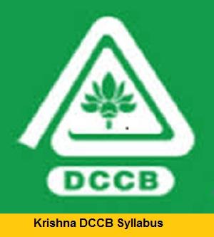 Krishna DCCB Syllabus 2018
