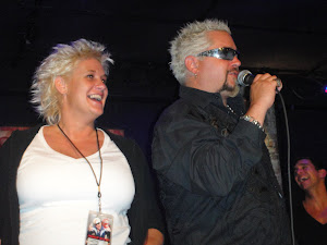 At a Party with Guy Fieri and Anne Burrell