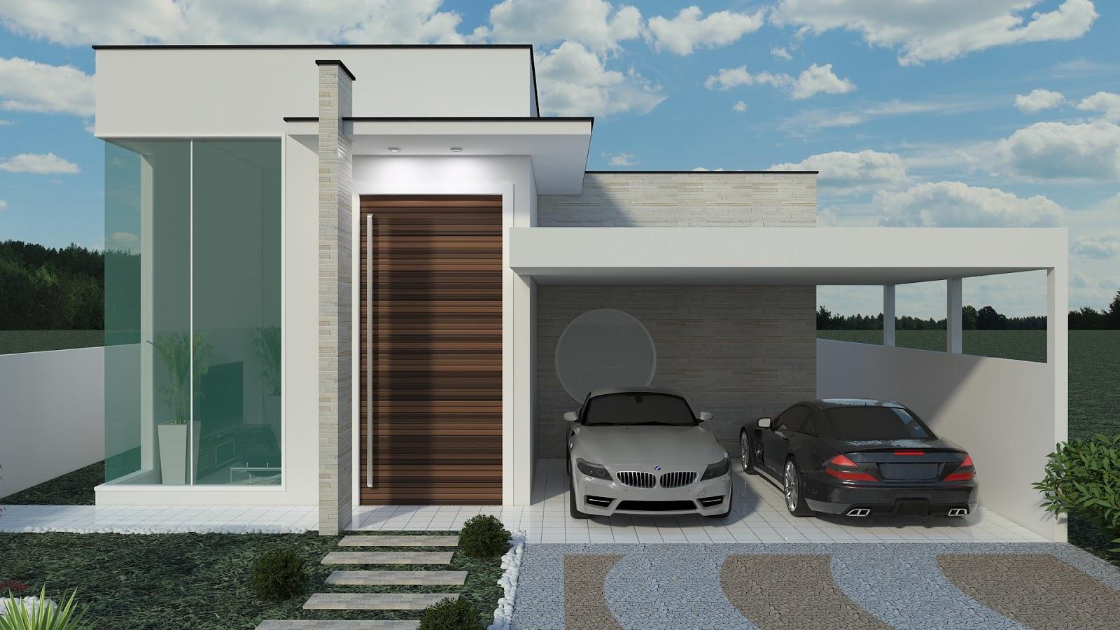 Construindo minha casa clean fachadas de casas quadradas for Fachadas modernas de casas pequenas