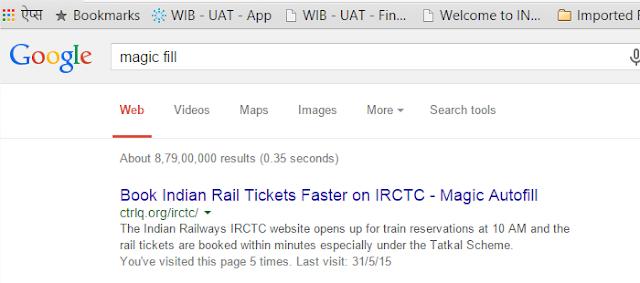IRCTC पर तत्काल रेल टिकट magic auto fill