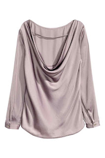 H&M drapowana bluzka z wycięciem na plecach co kupić na wyprzedaży blog modowy netstylistka
