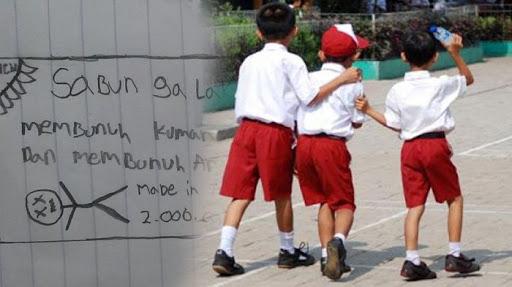 Diminta Gambar Sabun, Bocah SD ini Malah Berikan Pesan Mengerikan Sekaligus Menggelitik.