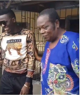 VIDEO: Popular Comedian, Akpororo gifts his friend's father a brand new car