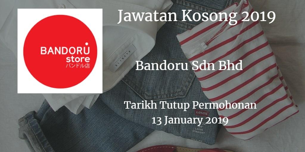 Jawatan Kosong Bandoru Sdn Bhd 13 January 2019