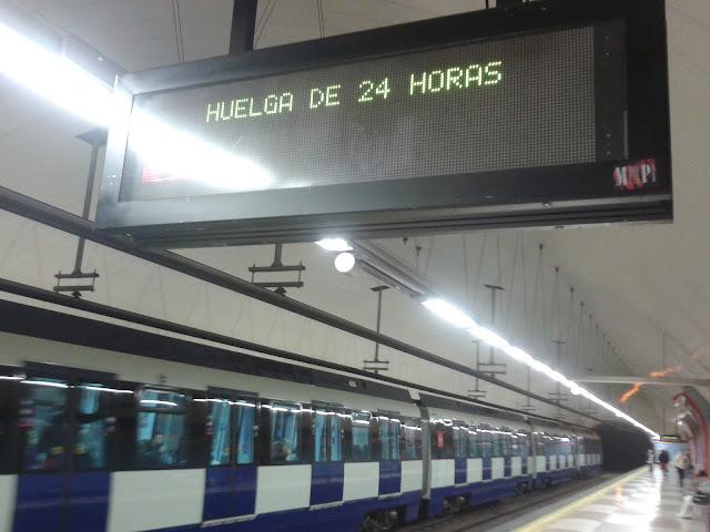 Nueva huelga de metro de Madrid en Diciembre