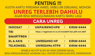 Cara Unreg Registrasi Kartu Indosat Ooredoo (IM3 dan Mentari)