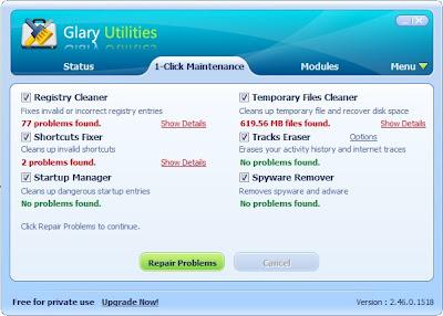 Glary Utilities repair